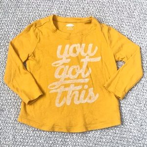 3/$15 Old Navy Yellow Long Sleeve Toddler Top
